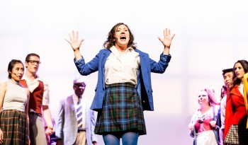 Heathers the Musical Performance photo with Christine Quintana and cast